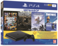 Sony PlayStation 4 Slim (1TB) + 3 Игры + Fortnite